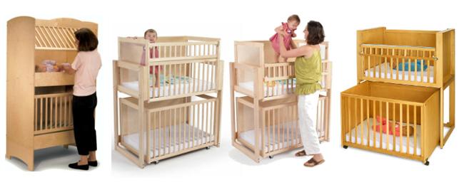 двухярусная кроватки для двойни