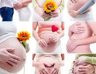 животики беременные