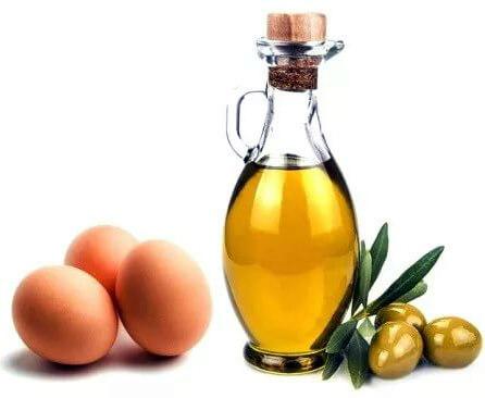 маска яйца с оливковым маслом