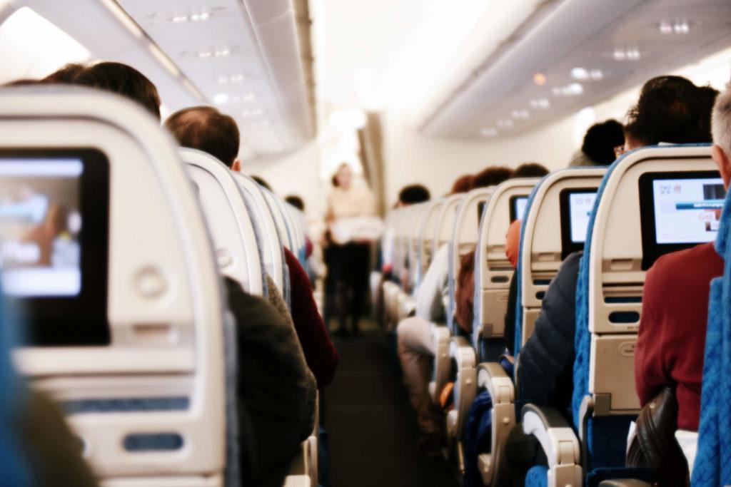 салон в самолете