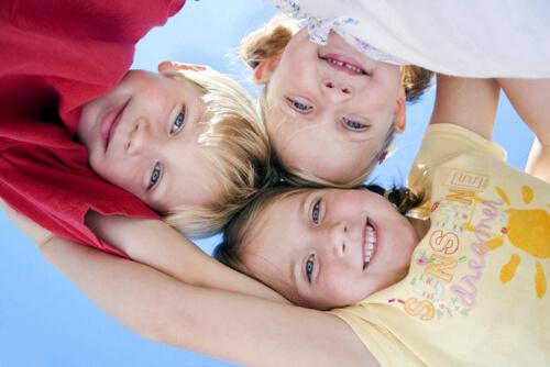 трое детей разновозрастных