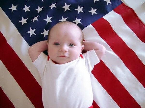 малыш рожденный в США