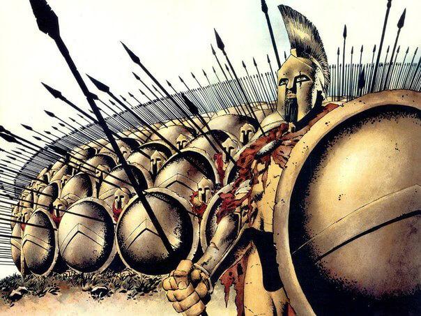 спартанское войско