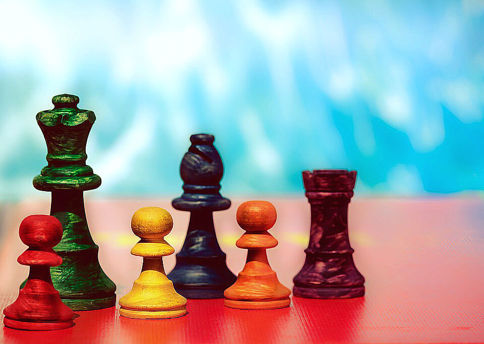 шахматы красочные фото