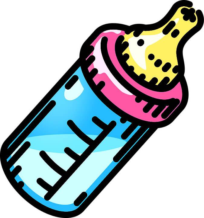нарисованная бутылка для малыша