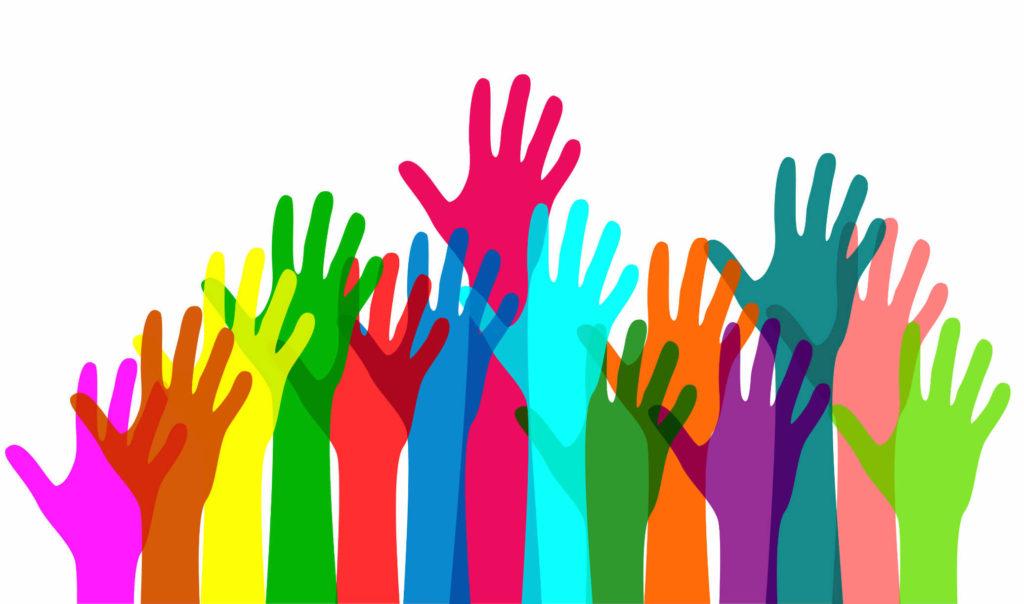 разноцветные руки картинка