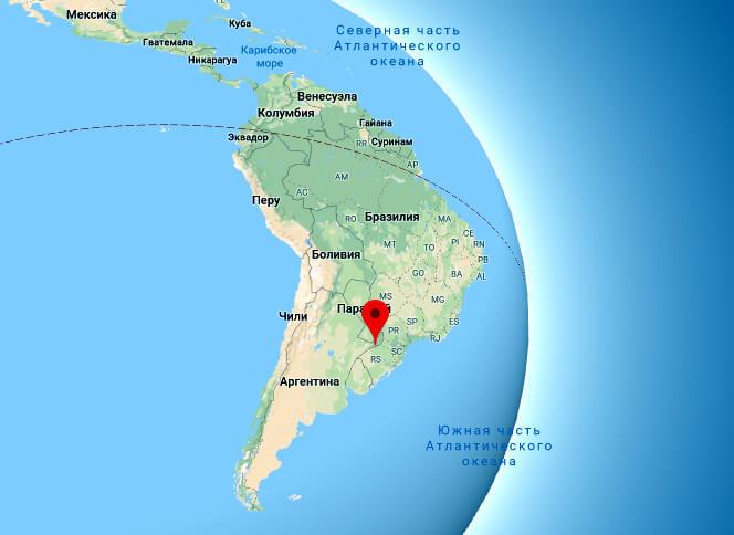 карта город Кандидо Годои