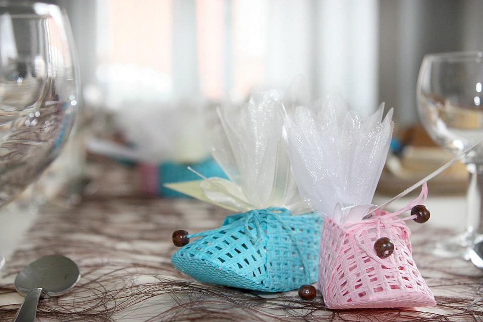 синий и розовый ботинок